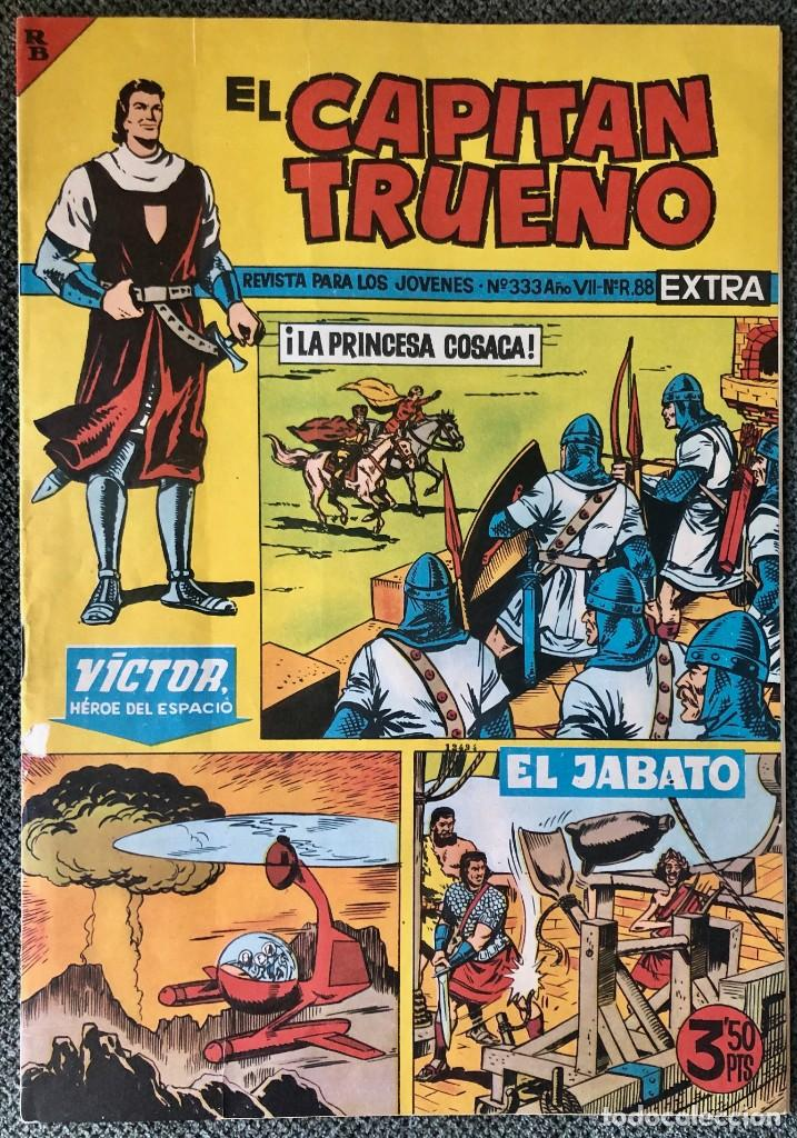 LOTE EL CAPITAN TRUENO EXTRA Nº 329, 330, 331, 332 Y 333 ORIGINALES. BRUGUERA (Tebeos y Comics - Bruguera - Capitán Trueno)