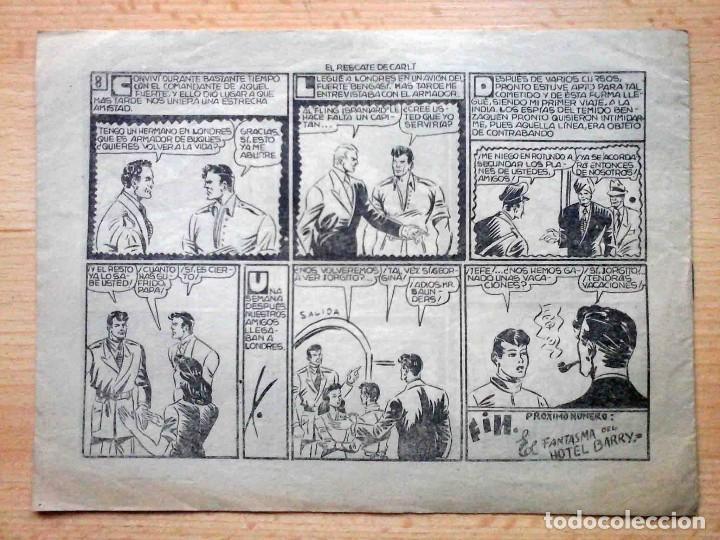 Tebeos: Ricardo Manteca y Jorgito Apuros Nº 6 El rescate de Carlt - Original 1947 - Foto 2 - 195334270