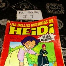 Tebeos: LAS BELLAS HISTORIAS DE HEIDI EXTRA MENSUAL 3 VER FOTOS ESTADO 1976 PINTADA A BOLÍGRAFO EN ALGÚN SIT. Lote 195338323