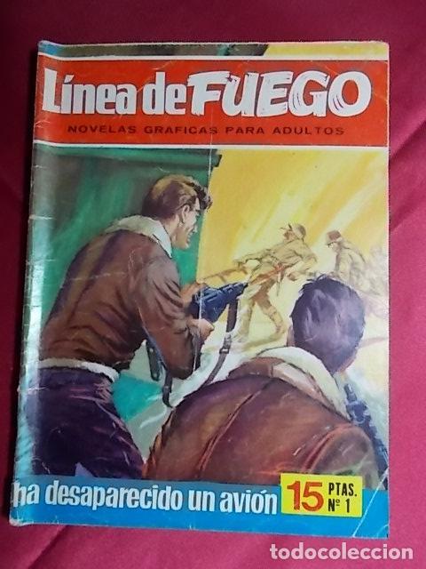 LINEA DE FUEGO. Nº 1. HA DESAPARECIDO UN AVIÓN. BRUGUERA 1976 (Tebeos y Comics - Bruguera - Otros)