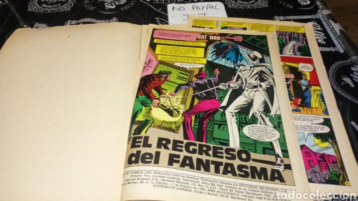Tebeos: Ver fotos estado necesita reparación y limpieza bat man bruguera 6 año 1980 dc comics pintada a bolí - Foto 2 - 195339782