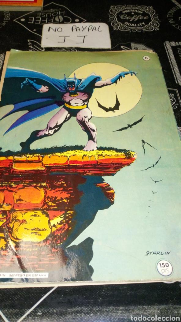 Tebeos: Ver fotos estado necesita reparación y limpieza bat man bruguera 6 año 1980 dc comics pintada a bolí - Foto 4 - 195339782