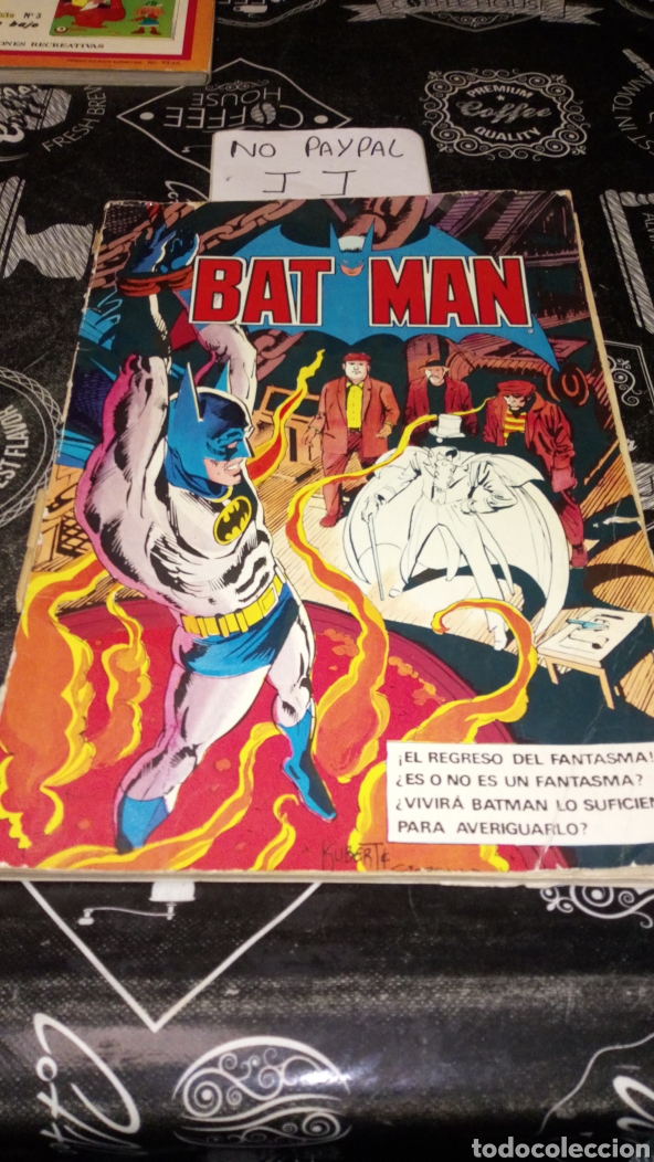 VER FOTOS ESTADO NECESITA REPARACIÓN Y LIMPIEZA BAT MAN BRUGUERA 6 AÑO 1980 DC COMICS PINTADA A BOLÍ (Tebeos y Comics - Bruguera - Otros)