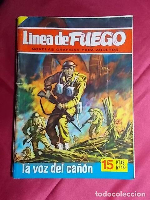 LINEA DE FUEGO. Nº 10. LA VOZ DEL CAÑÓN. BRUGUERA 1976 (Tebeos y Comics - Bruguera - Otros)