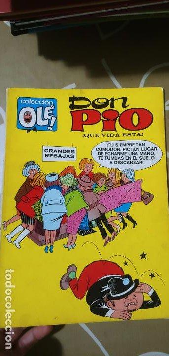 Tebeos: Colección Olé nº 6 Don Pío Peñarroya qué vida esta 1ª edición nº lomo Bruguera 1971 - Foto 3 - 195373213