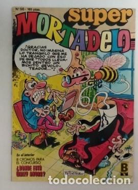 MORTADELO Y FILEMON-B.S.A.- SUPER -AÑO 1987-COLOR Nº 58 INCLUYE HOJA CENTRAL CROMO WALLY (Tebeos y Comics - Bruguera - Mortadelo)