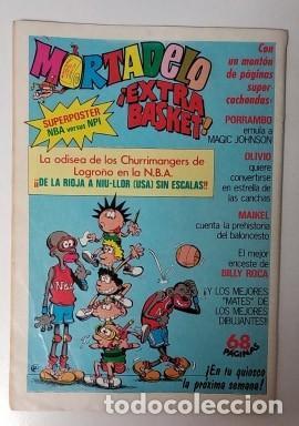 Tebeos: Mortadelo y Filemon-b.s.a.- SUPER -año 1987-color nº 58 INCLUYE HOJA CENTRAL CROMO WALLY - Foto 2 - 195377456