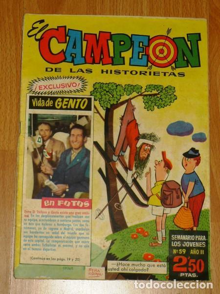 EL CAMPEÓN DE LAS HISTORIETAS. Nº 59 ; 24 DE ABRIL DE 1961 ; AÑO II (Tebeos y Comics - Bruguera - Otros)