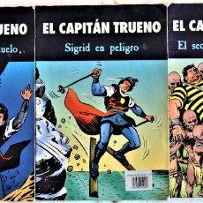 Tebeos: EL CAPITAN TRUENO Nº 256, 302 Y 317 - MORA, TORREGROS, UBEDA Y CARRION - EDICIONES B - TAPA BLANDA. Lote 195386920