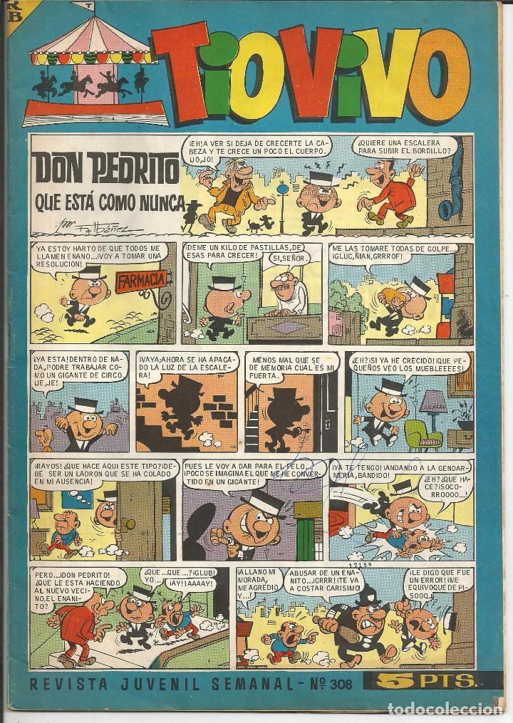 TIO VIVO Nº 308 - BRUGUERA 1967 (PUBLICIDAD CARAMELOS PULGARCITO Y COLA-CAO) (Tebeos y Comics - Bruguera - Tio Vivo)