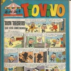Tebeos: TIO VIVO Nº 308 - BRUGUERA 1967 (PUBLICIDAD CARAMELOS PULGARCITO Y COLA-CAO). Lote 195389918