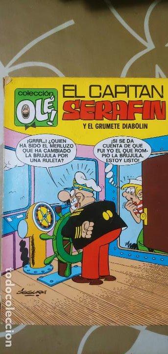 COLECCIÓN OLÉ Nº 21 EL CAPITÁN SERAFÍN Y EL GRUMETE DIABOLÍN SEGURA 1ª EDICIÓN Nº LOMO BRUGUERA 1971 (Tebeos y Comics - Bruguera - Ole)