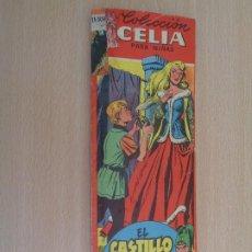 Tebeos: COLECCIÓN CELIA PARA NIÑAS.BRUGUERA 1956. EL CASTILLO MISTERIOSO Y OTROS 6 CUENTOS. 14 CROMOS FÁTIMA. Lote 195421616