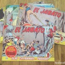 Tebeos: LOTE 20 EJEMPLARES EL JABATO (ENTRE EL 256 Y EL 285) - BRUGUERA, ORIGINAL - GCH1. Lote 195468741