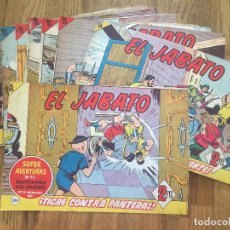Tebeos: LOTE 13 EJEMPLARES EL JABATO (ENTRE EL 286 Y EL 315) - BRUGUERA, ORIGINAL - GCH1. Lote 195469591