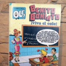 Tebeos: BENITO BONIATO, VIVA EL COLE - COLECCION OLE - 1º EDICION - AÑO 1984. Lote 195500005