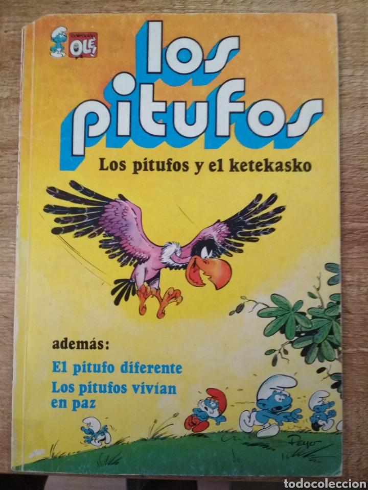 Tebeos: 3 comics de los Pitufos. - Foto 2 - 195500956