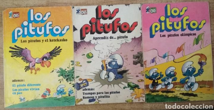 3 COMICS DE LOS PITUFOS. (Tebeos y Comics - Bruguera - Ole)