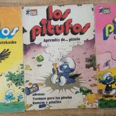 Tebeos: 3 COMICS DE LOS PITUFOS.. Lote 195500956
