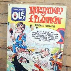 Tebeos: MORTADELO Y FILEMON, MISIONES TURULATAS - 1º EDICION - 26/12/1977. Lote 195532917