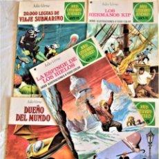 Tebeos: JOYAS LITERARIAS JUVENILES Nº 4, 65, 114, 158 Y 193 - JULIO VERNE - TAPA BLANDA - EDITORIAL BRUGUERA. Lote 195706697