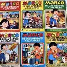 Tebeos: MARCO DE LOS APENINOS A LOS ANDES Nº 1, 2, 3, 4, 5 Y 6 - AÑO 1977 - TAPA BLANDA. Lote 195717635