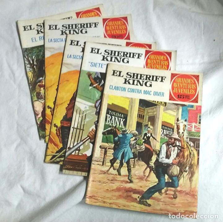 LOTE 4 CÓMICS EL SHERIFF KING AÑO 72, GRANDES AVENTURAS JUVENILES. Nº 14, 22, 30 Y 51 (Tebeos y Comics - Bruguera - Sheriff King)