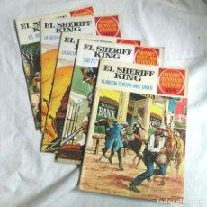 Tebeos: LOTE 4 CÓMICS EL SHERIFF KING AÑO 72, GRANDES AVENTURAS JUVENILES. Nº 14, 22, 30 Y 51. Lote 195867746