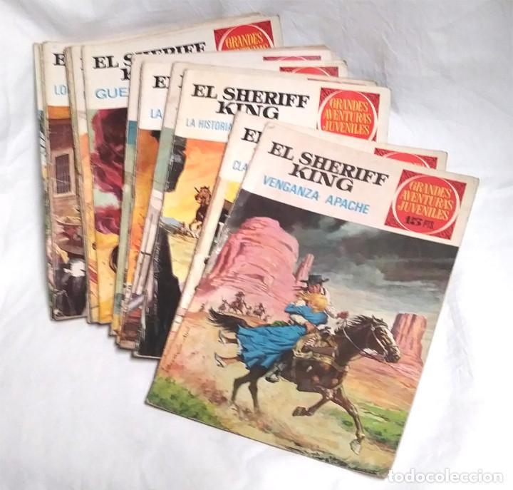 LOTE 10 EL SHERIFF KING, GRANDES AVENTURAS JUVENILES AÑO 72, LISTA PUBLICADA (Tebeos y Comics - Bruguera - Sheriff King)