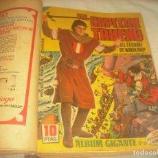 Tebeos: CAPITAN TRUENO , ALBUM GIGANTE,ENCUADERNADOS DEL 1 AL 34. FALTAN EL 23 Y EL 27.. Lote 196252140