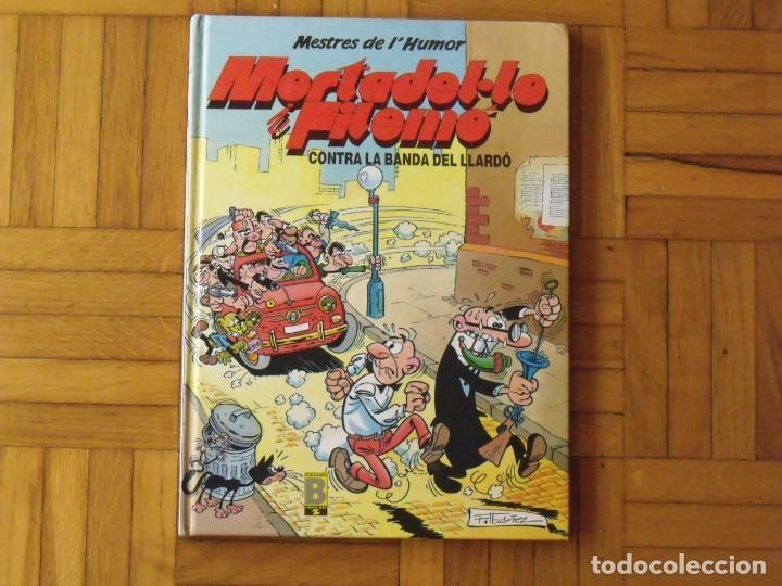 MORTADEL·LO I FILEMÓ. CONTRA LA BANDA DEL LLARDÓ. FIRMADO Y DEDICADO POR FRANCISCO IBÁÑEZ. 1990. (Tebeos y Comics - Bruguera - Mortadelo)