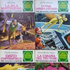 Tebeos: LOTE 4 JOYAS LITERARIAS JUVENILES + 1 GRANDES AVENTURAS. BRUGUERA.. Lote 196983568