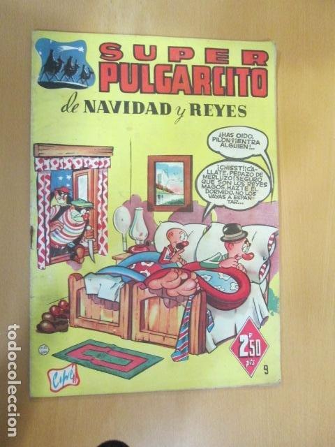 SUPER PULGARCITO , Nº 9 NAVIDAD Y REYES 1949 , ORIGINAL BRUGUERA MUY BUEN ESTADO (Tebeos y Comics - Bruguera - Pulgarcito)