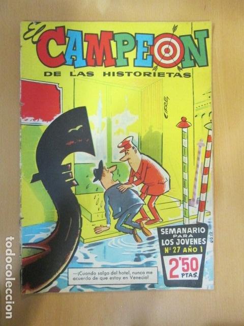 EL CAMPEON Nº 27 CON JABATO EN PAGINAS CENTRALES BRUGUERA (Tebeos y Comics - Bruguera - Jabato)