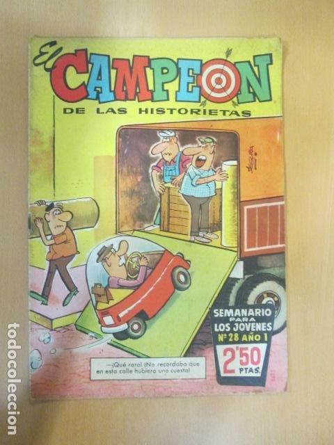 EL CAMPEON Nº 28 CON JABATO EN PAGINAS CENTRALES BRUGUERA (Tebeos y Comics - Bruguera - Jabato)