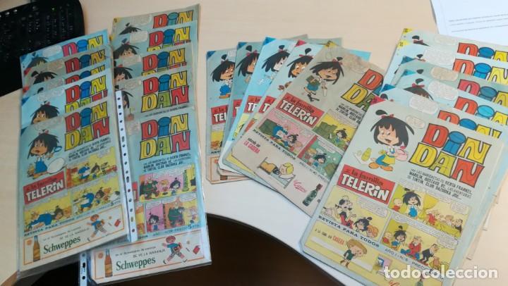 DIN DAN LA FAMILIA TELERIN LOTE DE 23 TEBEOS (Tebeos y Comics - Bruguera - Din Dan)
