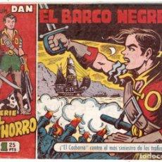 Tebeos: EL CACHORRO Nº 132, IRANZO. EDITORIAL BRUGUERA, ORIGINAL COLECCIÓN DAN 1.956. EL BARCO NEGRERO. Lote 197802561