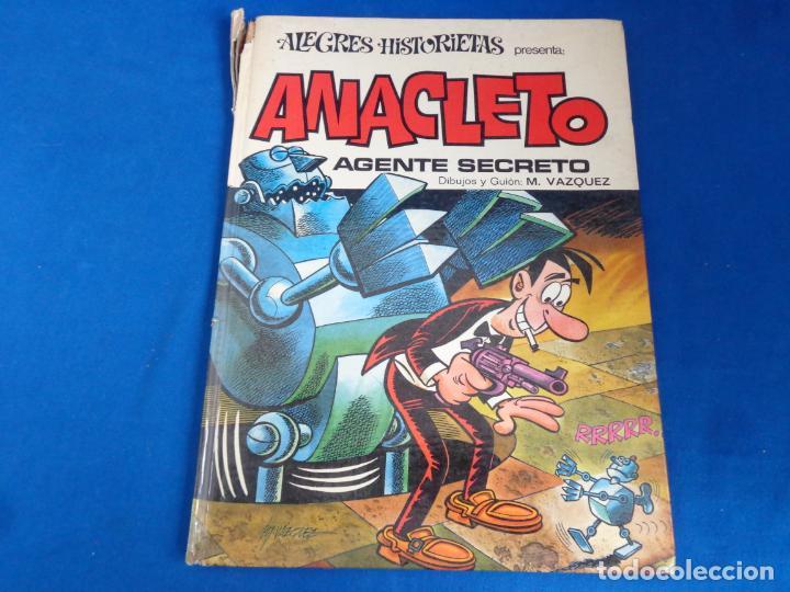 ALEGRES HISTORIETAS Nº 7 ANACLETO AGENTE SECRETO PRIMERA 1ª EDICIÓN AÑO 1971! SM (Tebeos y Comics - Bruguera - Otros)