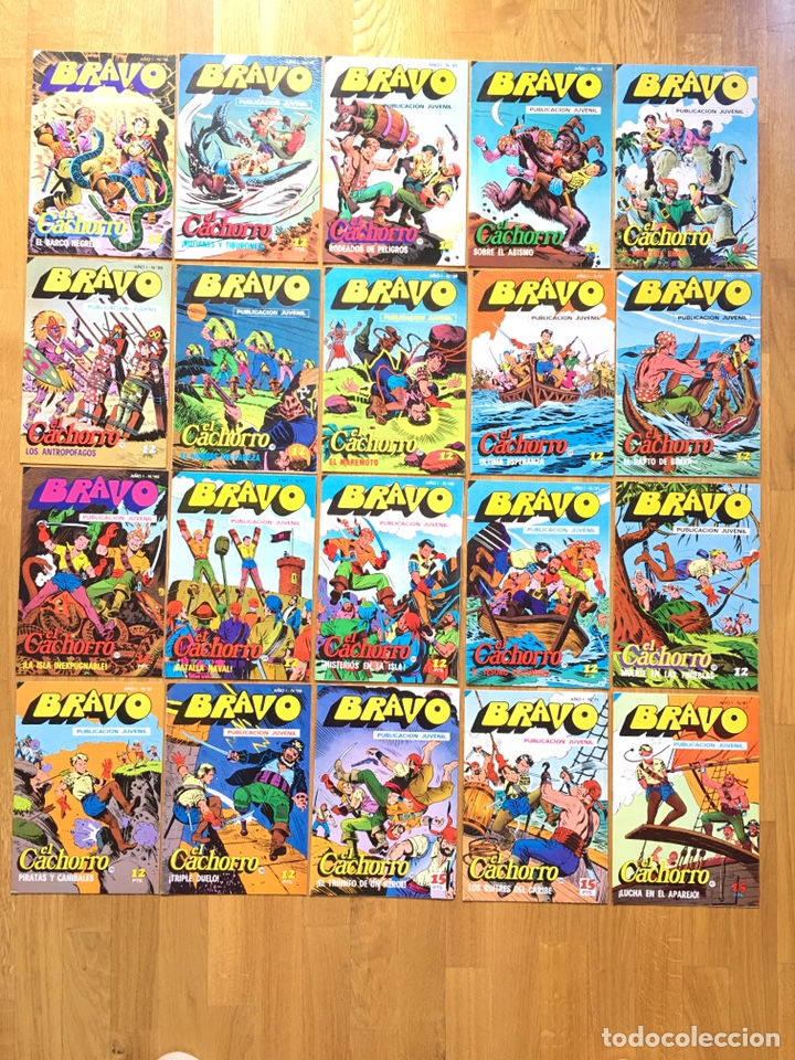 EL CACHORRO - BRAVO - LOTE DE 20 NÚMEROS (Tebeos y Comics - Bruguera - El Cachorro)