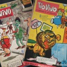 Tebeos: LOTE 14 COMIC ORIGINAL BRUGUERA, TIO VIVO, EL SEMANARIO DE LAS CARCAJADAS. Lote 198215016