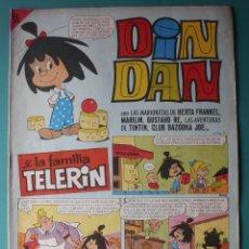 Tebeos: DIN DAN Nº 18 CON TINTIN , FAMILIA TELERIN, DIBUJOS DE AMBROS. Lote 198395236