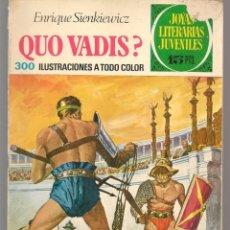 Tebeos: JOYAS LITERARIAS JUVENILES. Nº 14. QUO VADIS?. E. SIENKIEWICZ. (15 PTS)BRUGUERA,1972.(P/B3). Lote 198400408