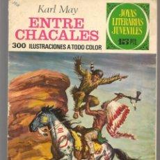 Tebeos: JOYAS LITERARIAS JUVENILES. Nº 45. ENTRE CHACALES. KARL MAY. (15 PTS)BRUGUERA,1972.(P/B3). Lote 198400668