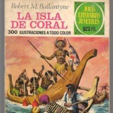 Tebeos: JOYAS LITERARIAS JUVENILES. Nº 42. LA ISLA DE CORAL. R. M. BALLANTYNE. (15 PTS)BRUGUERA,1972.(P/B3). Lote 198401122