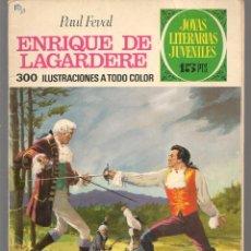 Tebeos: JOYAS LITERARIAS JUVENILES. Nº 27. ENRIQUE DE LAGARDERE. (15 PTS. LABERINTO)BRUGUERA,1971.(P/B3). Lote 198401535