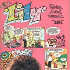 Tebeos: LILY REVISTA JUVENIL FEMENINA NUMERO 893. BRUGUERA. Lote 198403593