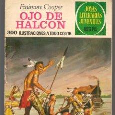 Tebeos: JOYAS LITERARIAS JUVENILES. Nº 46. OJO DE HALCON. FENIMORE COOPER. (15 PTS) BRUGUERA, 1972(P/B3). Lote 198405037
