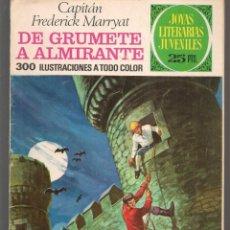 Tebeos: JOYAS LITERARIAS JUVENILES. Nº 50. DE GRUMETE A ALMIRANTE. F. MARRYAT. BRUGUERA, 3ª EDC. 1976(P/B3). Lote 198405580