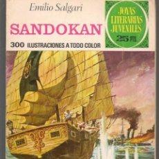 Tebeos: JOYAS LITERARIAS JUVENILES. Nº 52. SANDOKAN. EMILIO SALGARI. BRUGUERA, 3ª EDC. 1976(P/B3). Lote 198405862