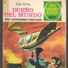 Tebeos: JOYAS LITERARIAS JUVENILES. Nº 114. DUEÑO DEL MUNDO. J. VERNE. (15 PTS).BRUGUERA, 1974.(P/B3). Lote 198407515
